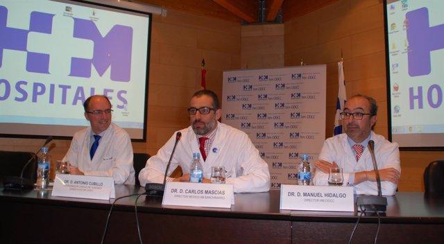 Dcotores Antonio Cubillo, Carlos Mascías y Manuel Hidalgo