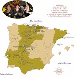 Rutas ibéricas de Carlos I