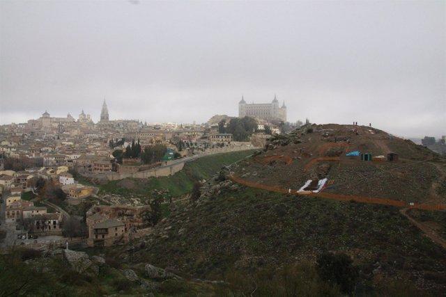 La ciudad de Toledo, Cerro del Bú, niebla, frío, temporal, invierno, nubes