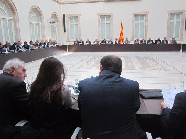 Reunión del Pacte Nacional pel Dret a Decidir