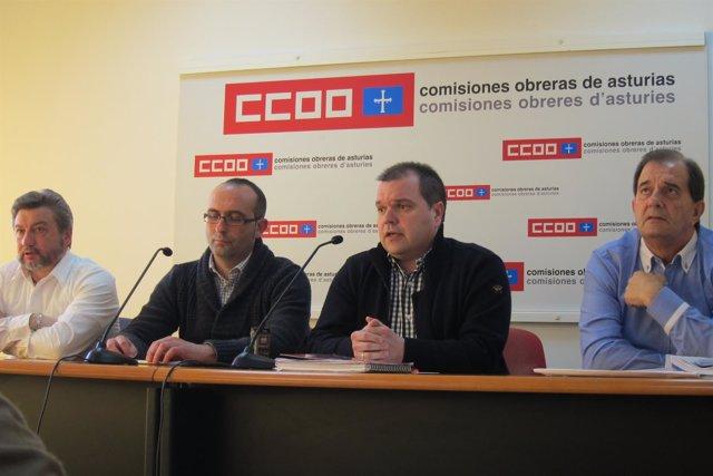 José Luis Villares, Damián Manzano, José Luis Alperi y Víctor Rodríguez