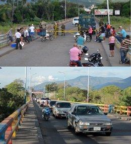 Frontera entre Colombia (Cúcuta) y  Venezuela