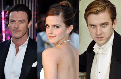 Emma Watson da la bienvenida a Dan Stevens y Luke Evans a La Bella y la Bestia