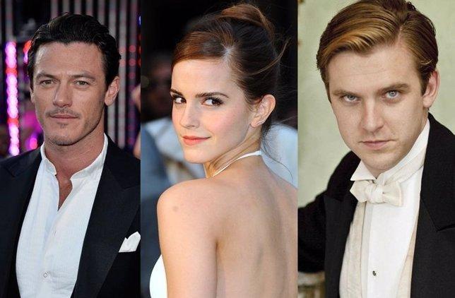 Luke Evans, Emma Watson y Dan Stevens, coprotagonistas de La bella y la bestia