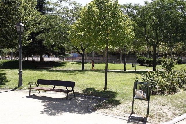 Buen tiempo. Sol. Altas temperaturas. Parque.