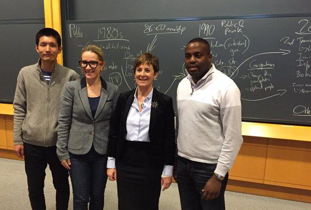 Arantza Tapia en Harvard