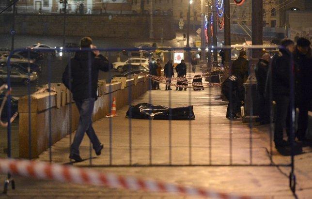 El cuerpo del opositor ruso Boris Nemtsov