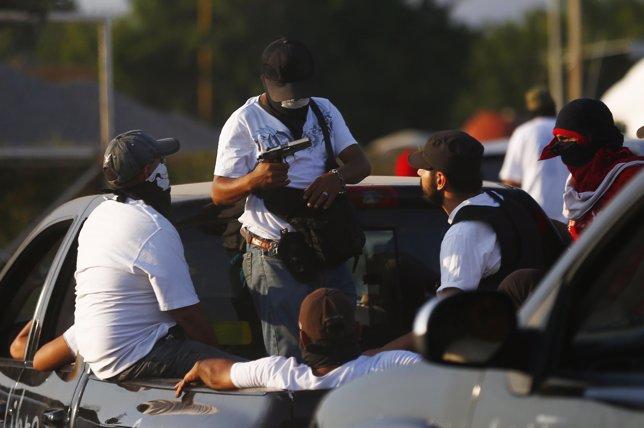 Miembros de las autodefensas de Michoacán.