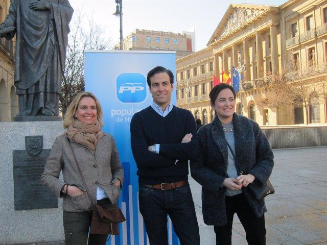 Elema Samaniego, Pablo Zalba y Cristina Sanz