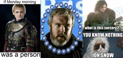 Los memes más épicos de Juego de tronos