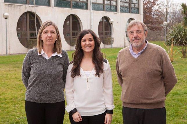 Carmen García Olaverri, Lucía Garcés Galdeano y Emilio Huerta Arribas
