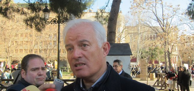 El portavoz del PP en el Ayuntamiento de Zaragoza, Eloy Suárez.