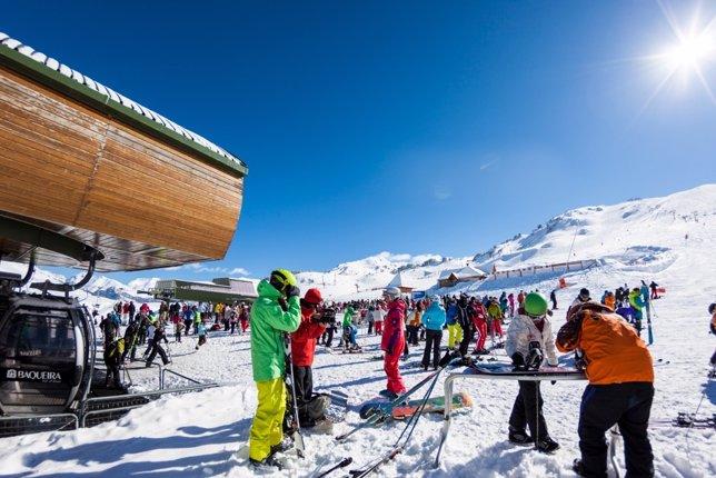 Imagen de archivo de la estación de esquí de Baqueira Beret