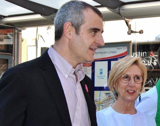 César Nebot junto a Rosa Díez