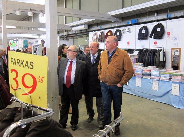 León de la Riva durante su visita a la X edición de la Feria del Stock