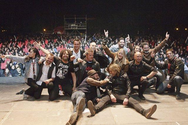 Artistas del Conciertazo Amstel de Fallas.