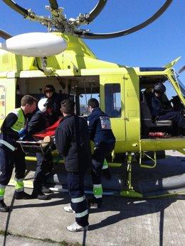 Rescate del helicóptero