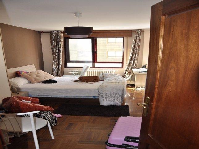 La habitación en la que presuntamente se explotaba a las mujeres
