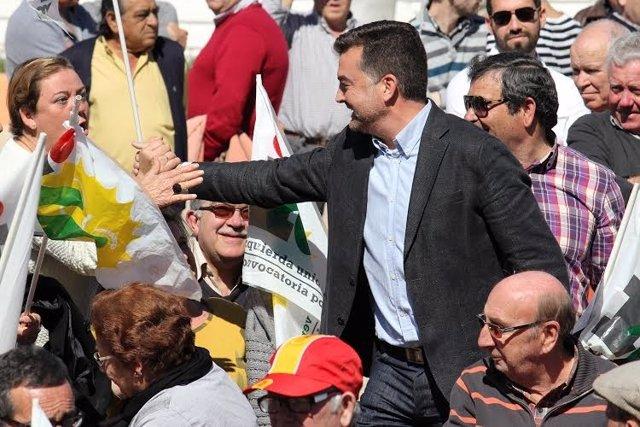 El candidato de IU a la Junta de Andalucía, Antonio Maíllo.