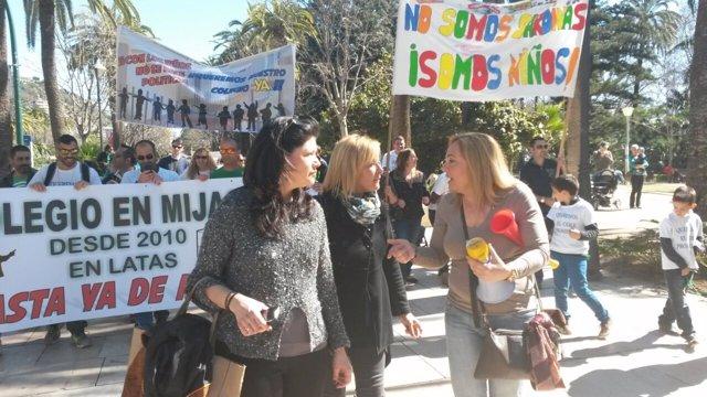 Mariví romero eva sánchez teba manifestacion alumnos más colegios