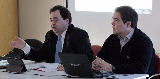 Rafael Delgado y José Ángel Martín, de UPyD Castilla y León