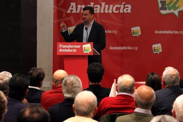 El candidato de IU a la Presidencia de la Junta, Antonio Maíllo.