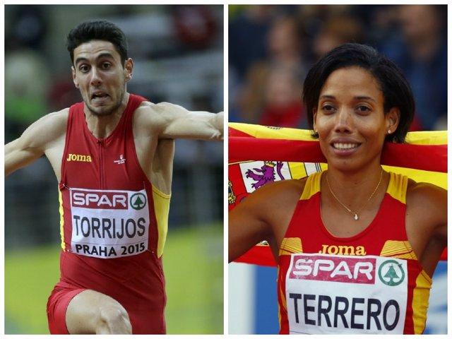 Pablo Torrijos e Indira Terrero en el Europeo de Praga