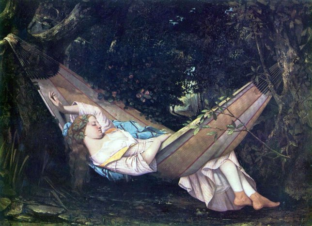 Cuadro de Gustave Courbet sobre la siesta