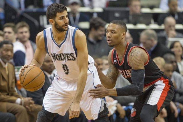 Ricky Rubio NBA Portland Trail Blazers Minnesota Timberwolves