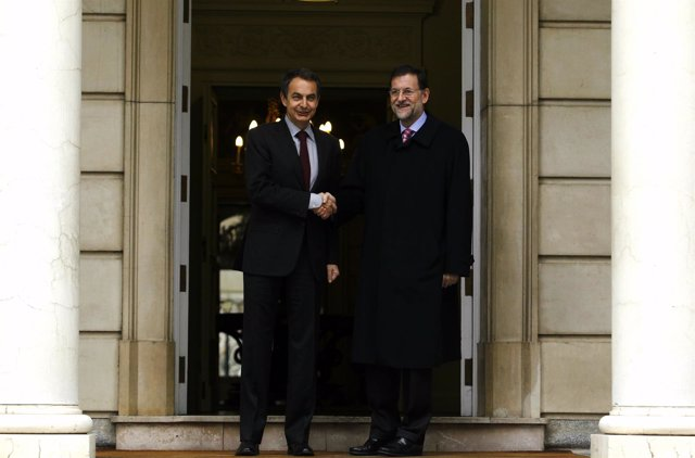 Zapatero Se Reúne Con Mariano Rajoy En La Moncloa