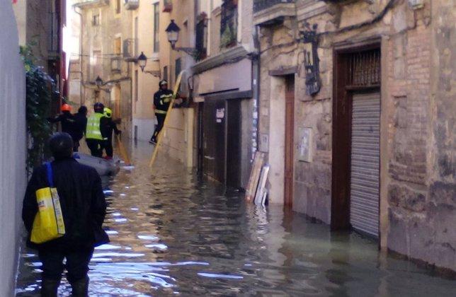 Inundación en Tudela.