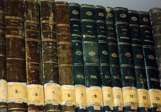 Actas de pleno de entre 1835 y 1948