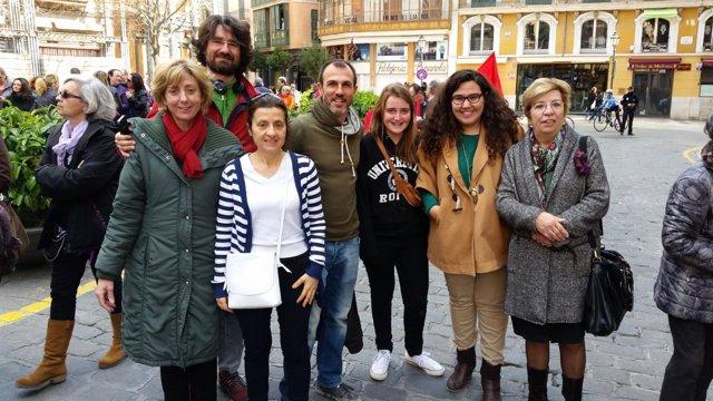 Fina Santiago, Biel Barceló y otros cargos de MÉS en Cort