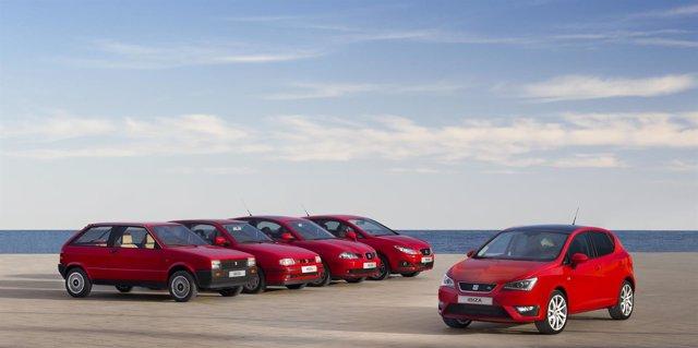 Las cuatro generaciones del Seat Ibiza y la edición especial del 30 aniversario