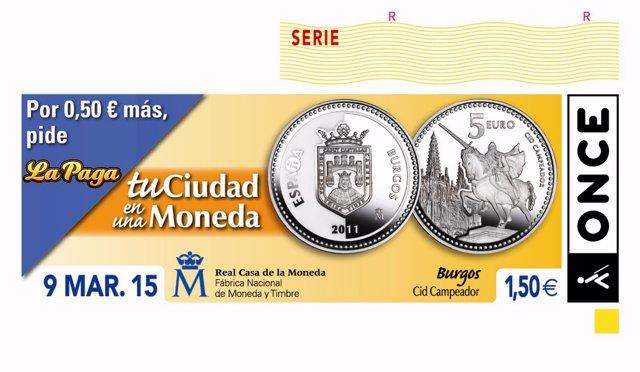 Serie de cupones de la ONCE 'Tu ciudad en una moneda'
