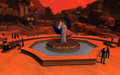 Monumento a Leonard Nimoy en el Star Trek Online