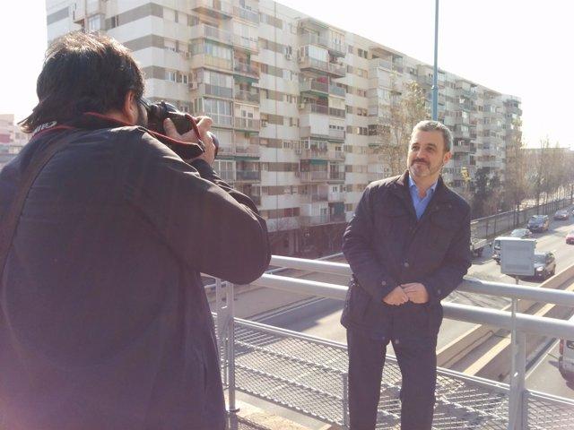 El socialista Jaume Collboni en la Ronda de Dalt