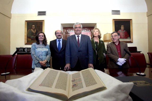 Presentación del ejemplar restaurado de la Biblia de Gutenberg