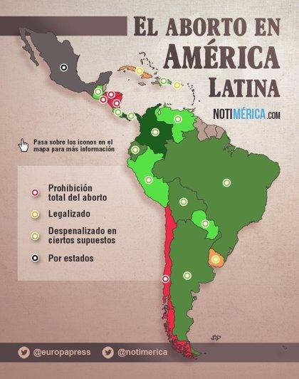 GRÁFICO: El aborto en Latinoamérica, entre el delito y los nuevos derechos