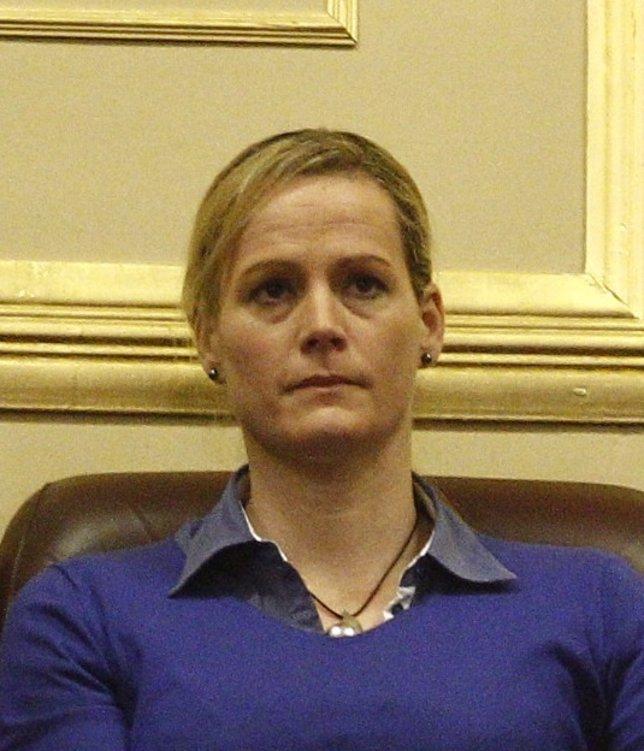 La militar Zaida Cantera en la tribuna del Congreso