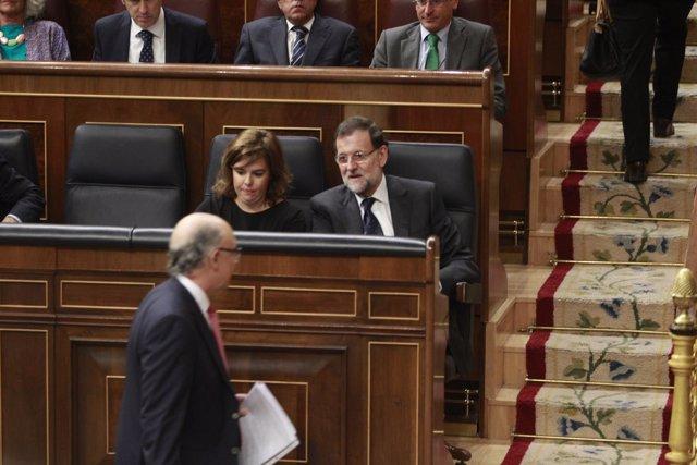 Santamaría, Rajoy y Montoro
