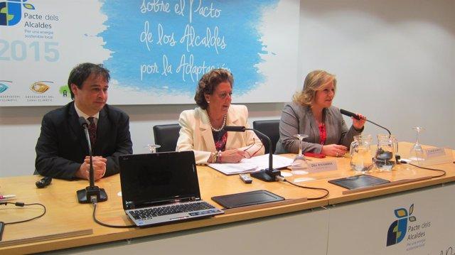 Morcillo, Barberá y Ramón-Llin en la Jornada del Pacto de Alcaldes