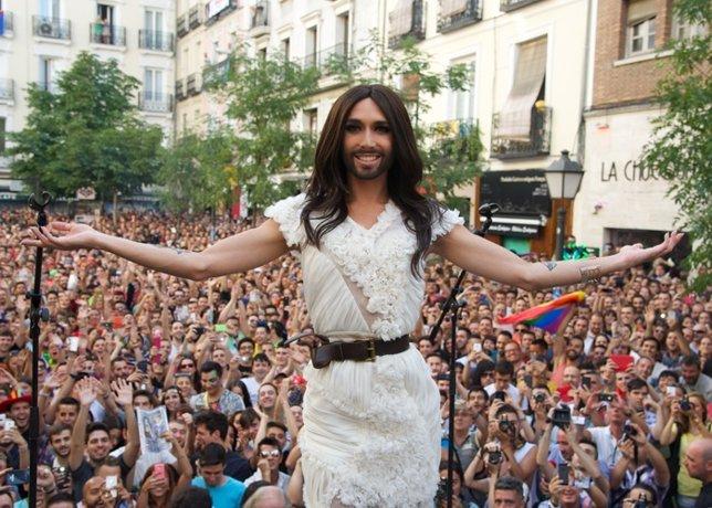 Conchita Wurst en el Orgullo Gay 2014