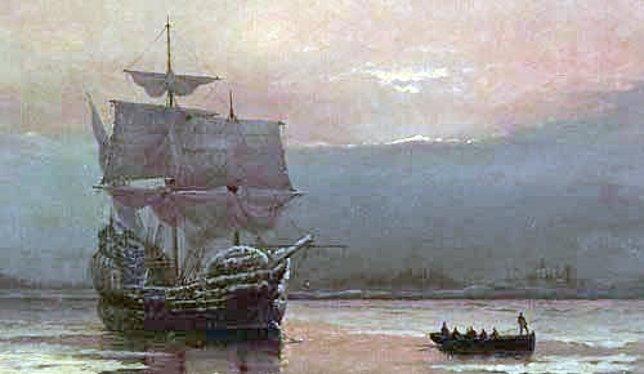 El Mayflower llegó a América del Norte en 1620
