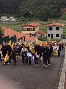 Protesta de AMA en Argoños