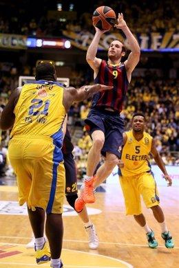 Marcelinho Huertas en el Maccabi Tel Aviv - Barcelona