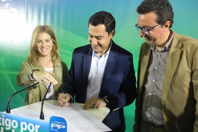 Ana Mestre, Juanma Moreno, Manuel Andrés González