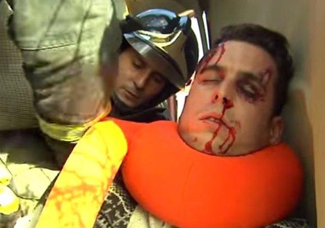 Simulacro de rescate usando el Snaid