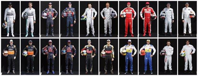 Parrilla de la Fórmula 1 en el Mundial 2015