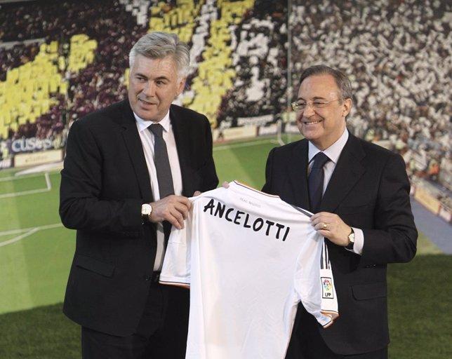 Carlo Ancelotti y Florentino Pérez